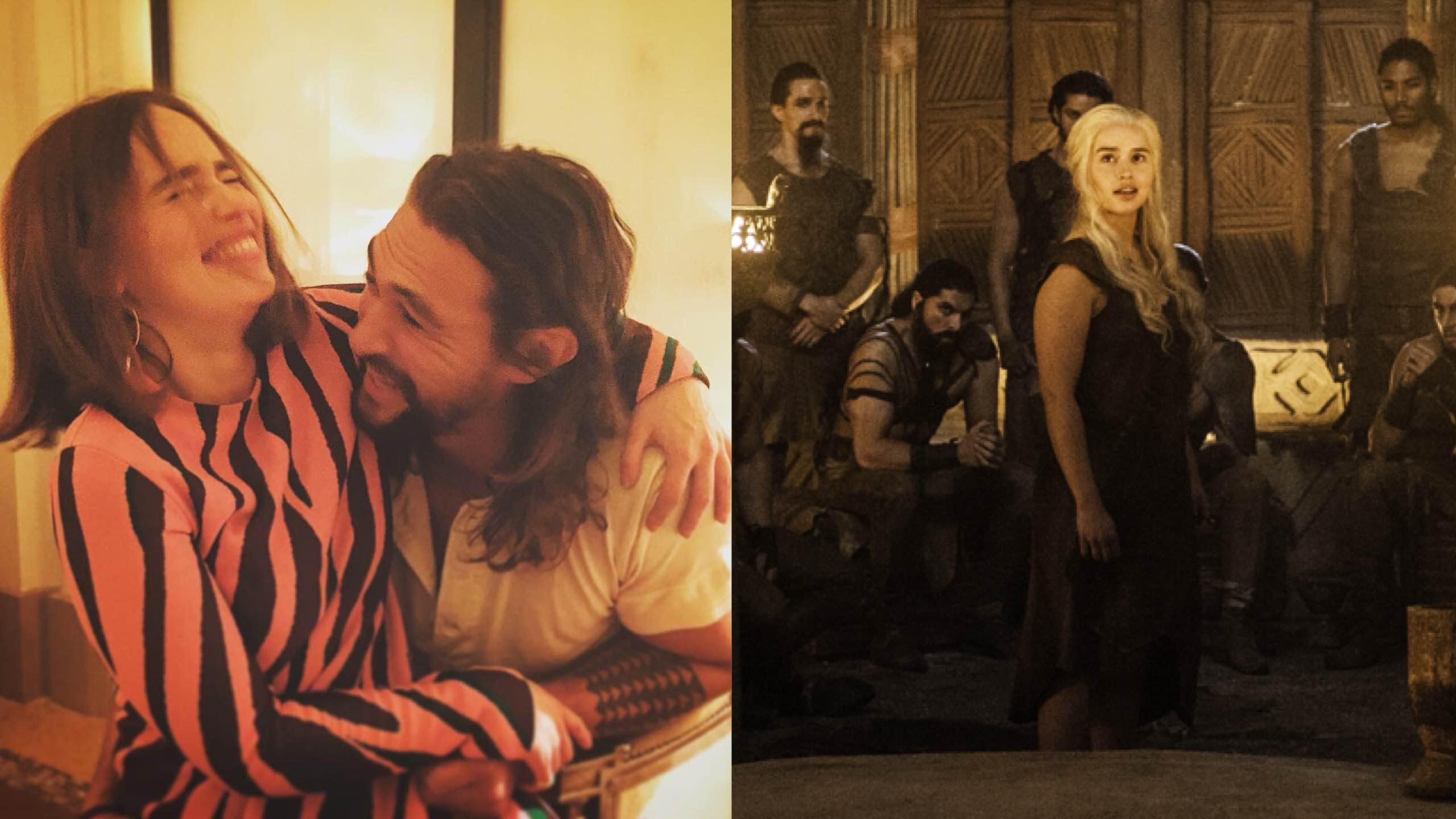 Look Jason Momoa Cheers On His Boo Khaleesi On Game Of Thrones