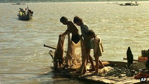 Fishing in the Mekong River, Cambodia (file image)