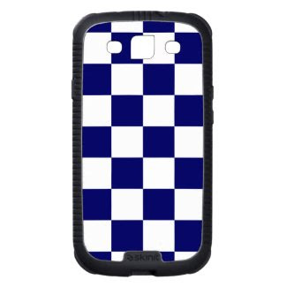 Checkered Navy and White Galaxy S3 Case