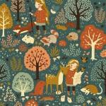 Birch Fabrics - Acorn Trail Canvas - Natur Hike