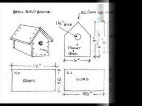 simple bird house plans youtube