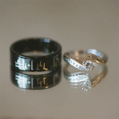 """Skyrim inspired wedding band. """"Now and Forever"""" in Dovah"""