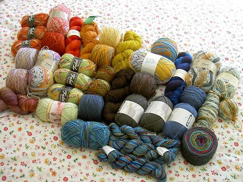 Sock yarn stash November 2008
