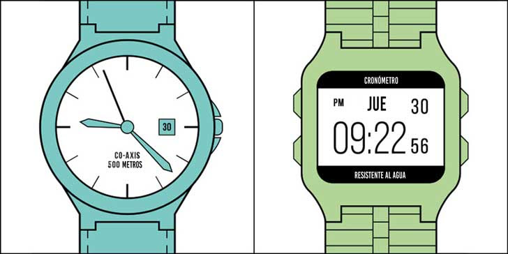 Relojes Digitales Vs Relojes Analógicos Marjoyacom
