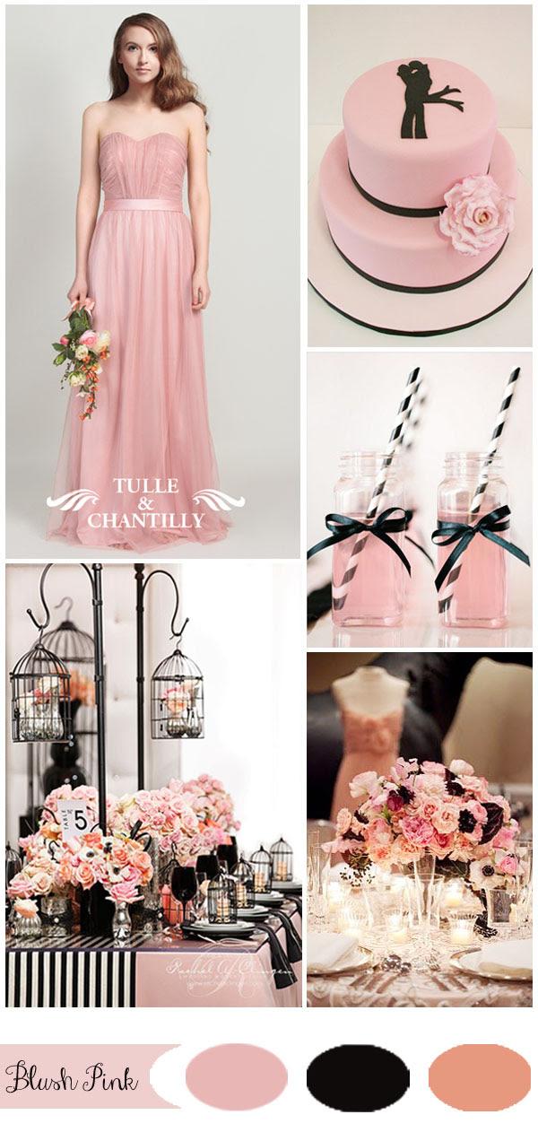Pink Bridesmaid Dresses Tulle Chantilly Wedding Blog