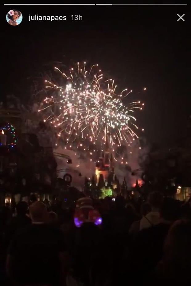 Show de fogos do Magic Kingdom (Foto: Reprodução/Instagram)