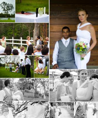 romantic outdoor wedding simple ceremony