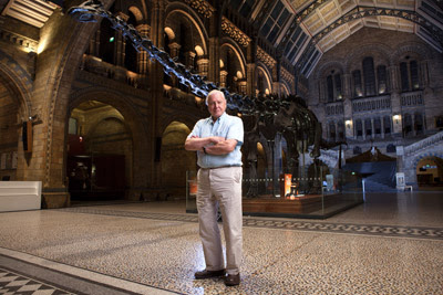 Sir David Attenborough in the Natural History Museum