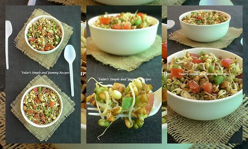 Mixed Sprouts and Peanut Salad By Valar