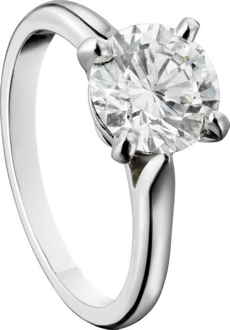 CRN4163600   1895 solitaire ring   Platinum, diamond   Cartier