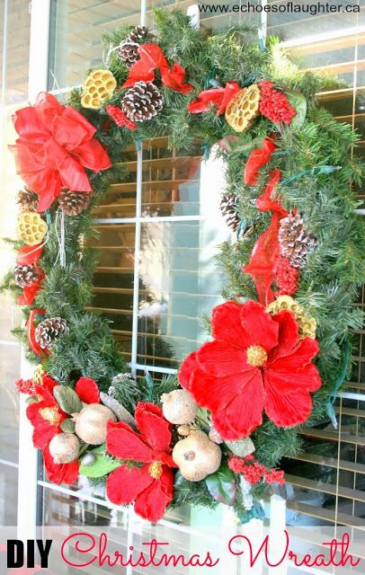 Echoes of Laughter: DIY Christmas Wreath