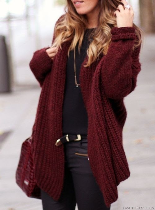 style, winter, look, outfit, cardigan. I am in love with that color!!!!!!!!!!!!