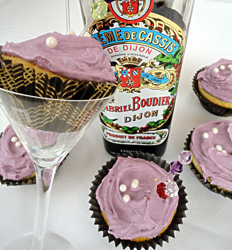 Champagne Cupcakes with Kir Royale Frosting