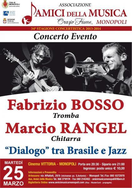Fabrizio Bosso alla tromba e Marcio Rangel alla chitarra