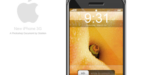 3g iphone psd