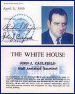 Jack Caulfield's White House ID card.