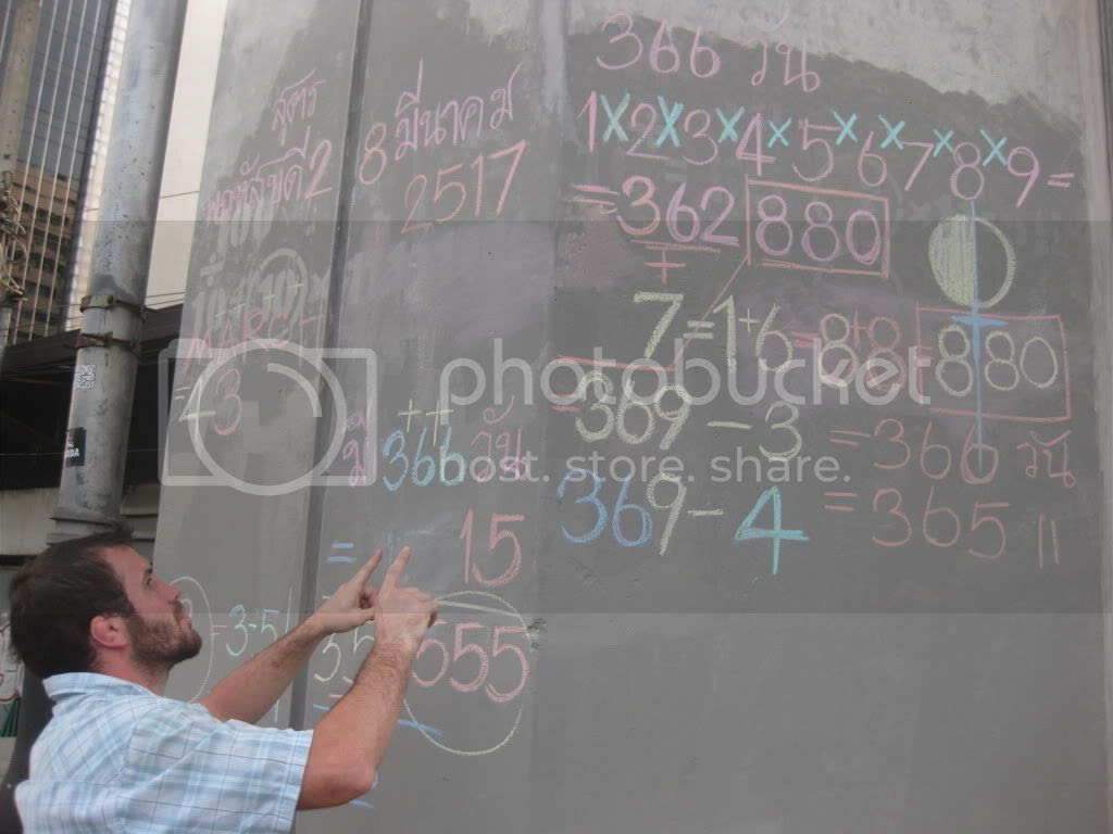 Random Math equations on the streets of Bangkok Pictures, Images and Photos