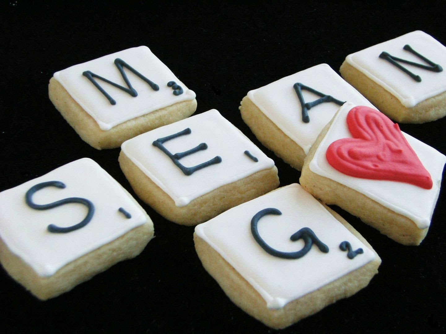 scrabble decorated cookies