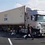 תיעוד: רגעי התאונה שגרמה לחסימה בכביש 6 - ynet ידיעות אחרונות
