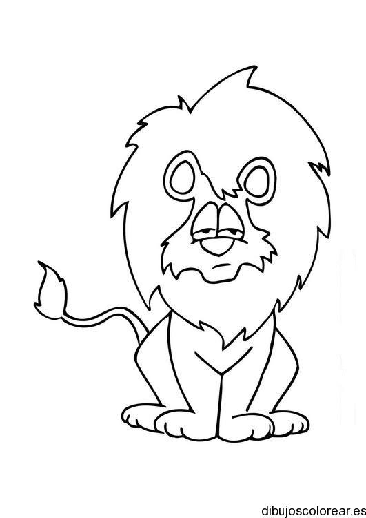 Dibujo De Un León Entristecido