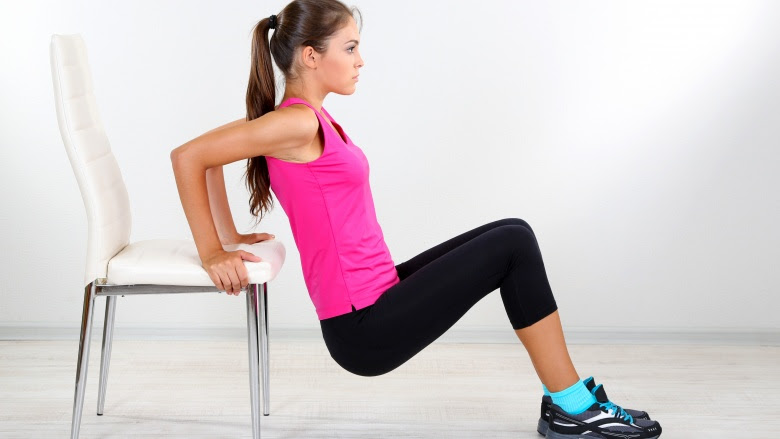 7 exercises you can do at work using nothing but a chair
