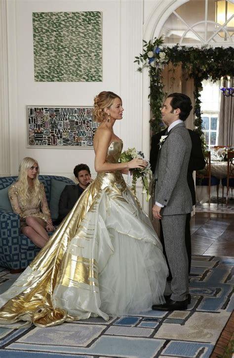 serena van der woodsen's gold georges chakra couture gown