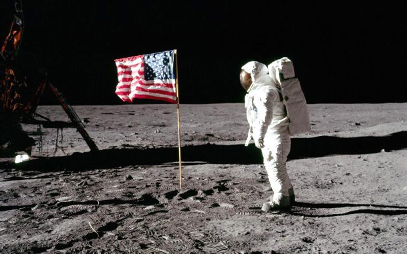 Human on the Moon