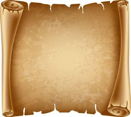 Old scroll paper background free vector download (54,242