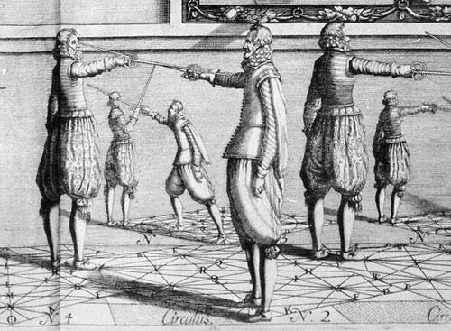 girard thibault  academie de l'espee 1628 detail