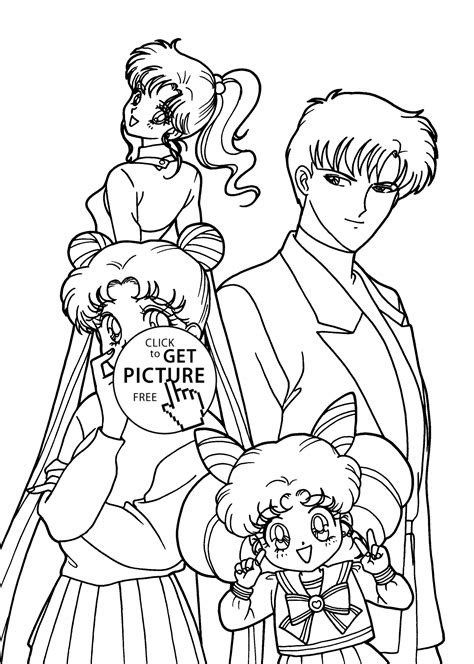 sailor moon characters anime coloring pages  kids