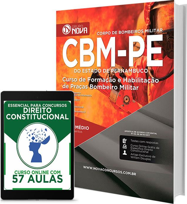 Apostila Bombeiro Militar PE 2017 – Curso de Formação e Habilitação de Praças CBMPE.