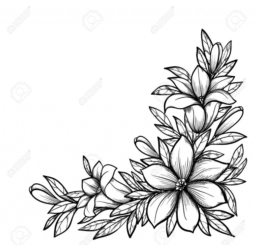 Simple Flower Designs For Pencil Drawing Free Download On Clipartmag