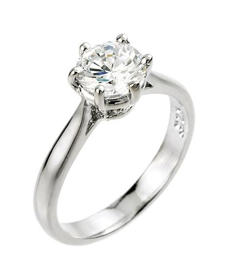 Women's 14K White Gold 1ct (6mm) Round Solitaire CZ