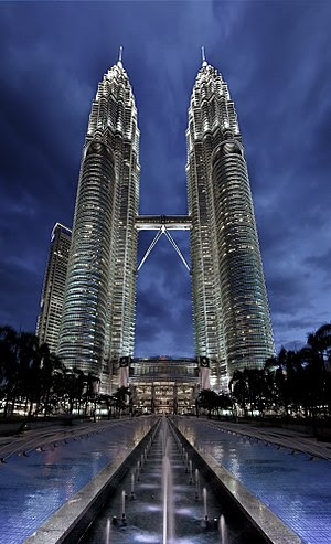 The Petronas Towers in KL