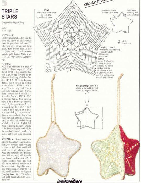 Christmas Crafts Crocheted Christmas Ball And Stars