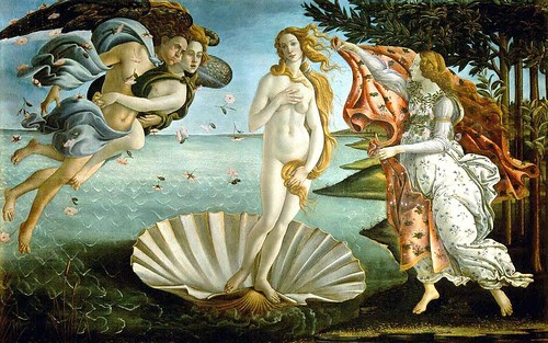 Boticelli, Sandro (1444-1510) - 1485c.Birth of Venus (Uffizi) by RasMarley