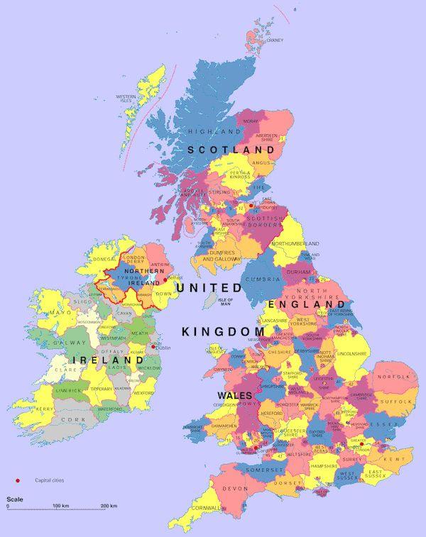 1000+ ideas about United Kingdom Map on Pinterest | Uk flag ...