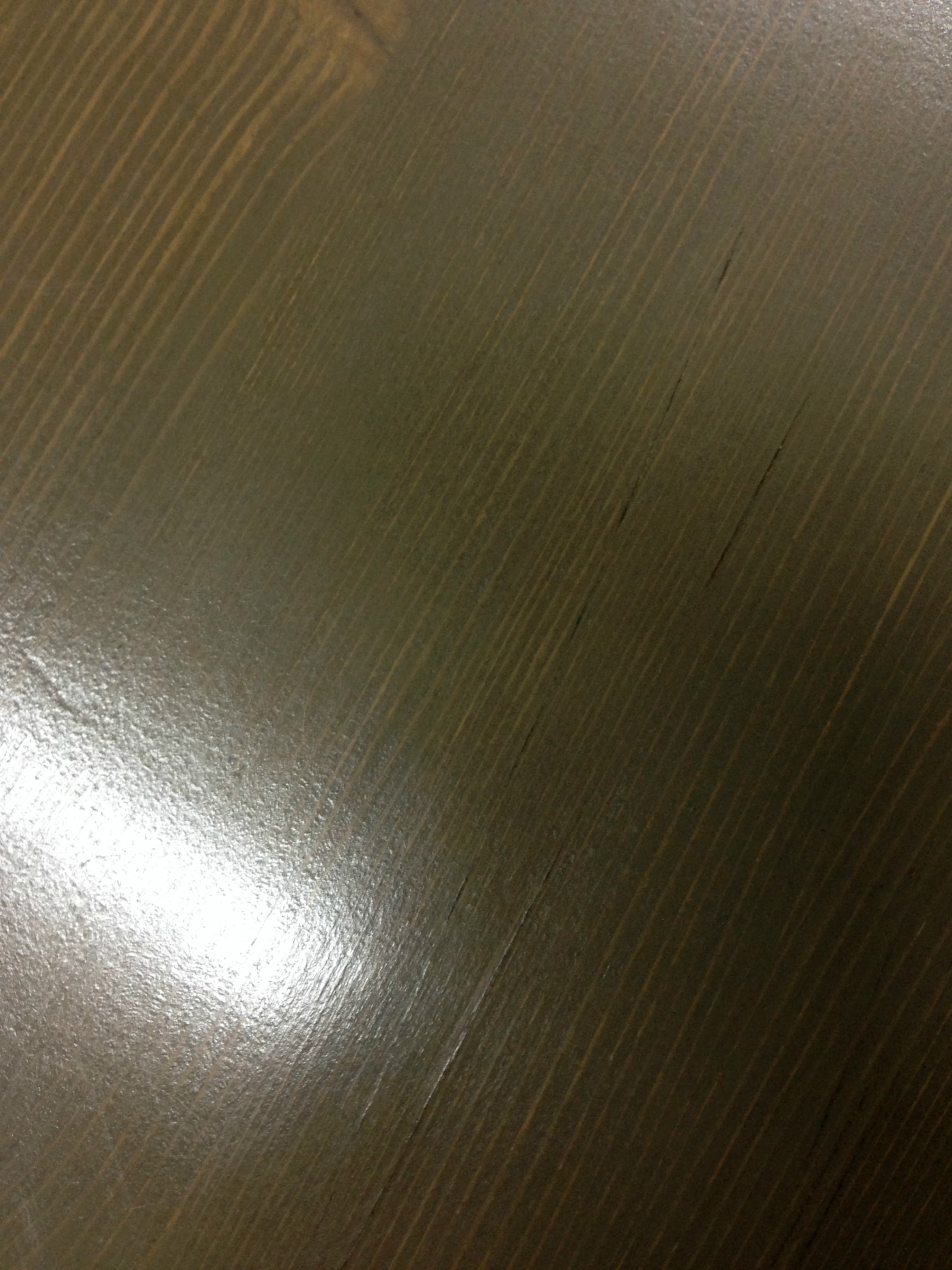 waxed table