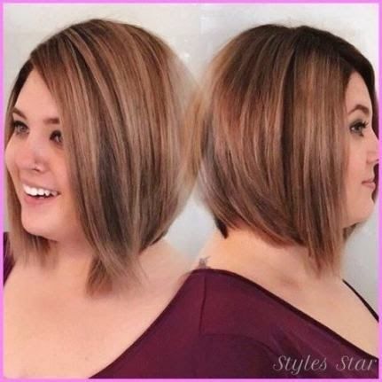 Short Hairstyle Women Round Face Plus Size Double Chin Thin Hair