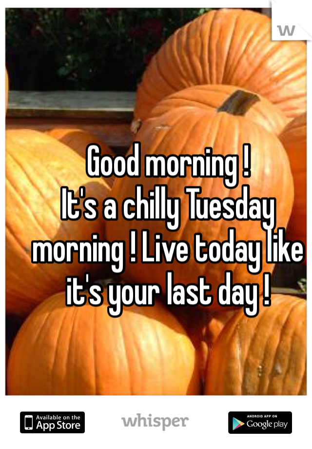 Good Morning Its A Chilly Tuesday Morning Live Today Like Its