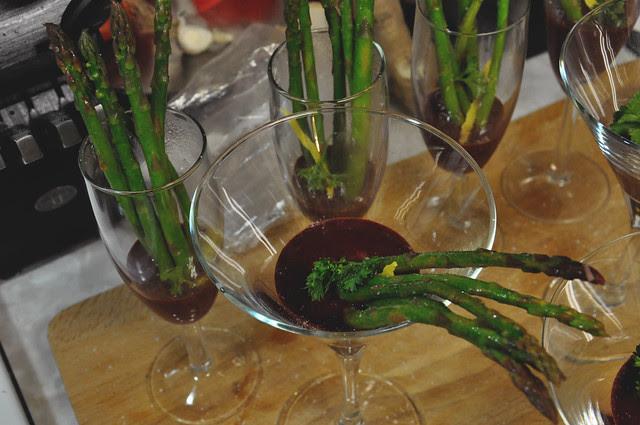 lemon-sautéed asparagus