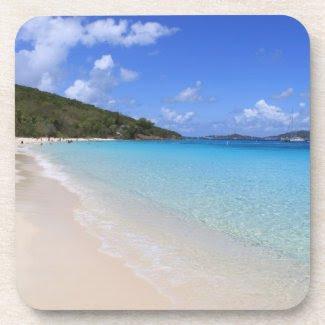 Tropical Dream Beach Cork Coaster