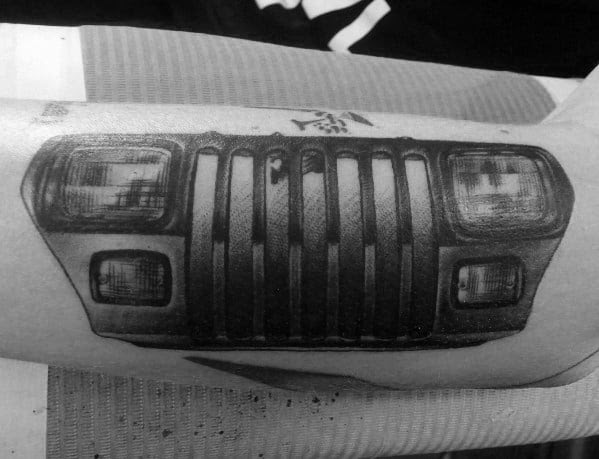 Guys Cool Jeep Tattoo Ideas