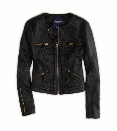 AE Quilted Vegan Leather Jacket