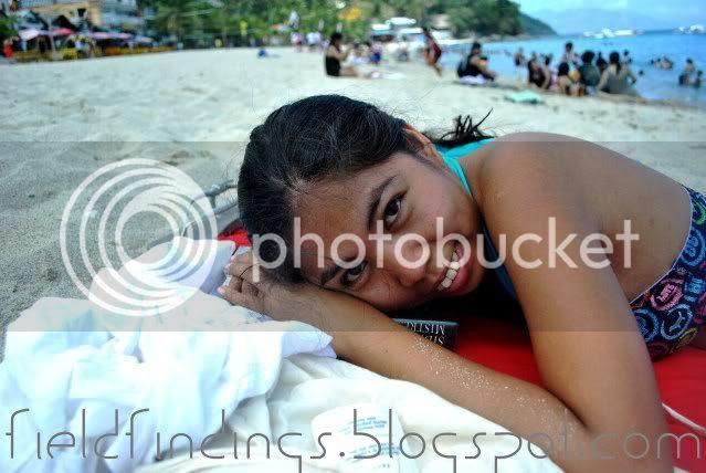 reg sunbathing