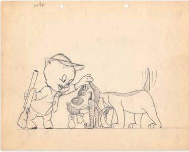 Porky Pig Animation drawing by Bob McKimson