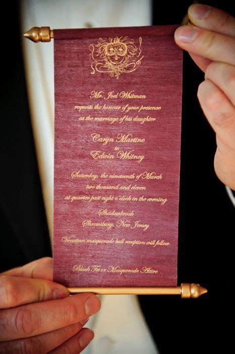 Personalized Scroll Wedding Invite   Fairytale Wedding