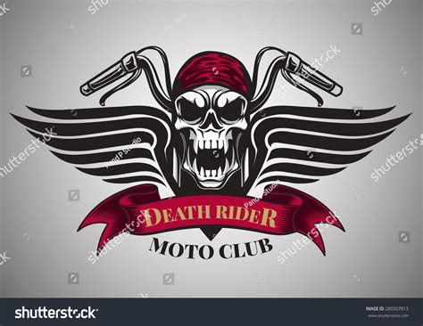 motor racing skullsgraphic design logo sticker stock