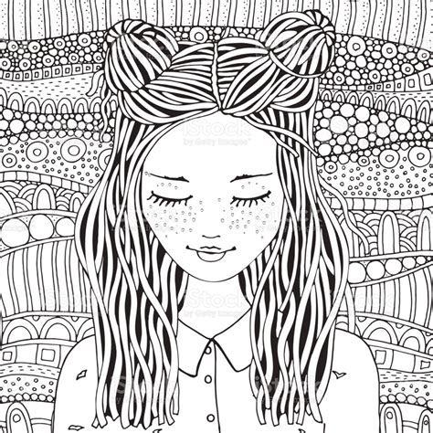 leuk meisje boek kleurplaat voor volwassenen en kinderen