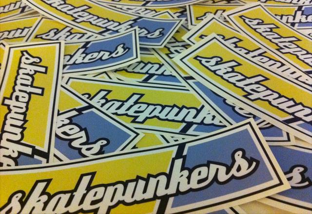 <center>Skatepunkers stickers for sale!</center>
